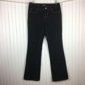 White House Black Market Boot Leg Jeans Black